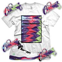 New White SUCCESS FACTS Sneaker T Shirt for Jordan 5 Alternate Bel Air V