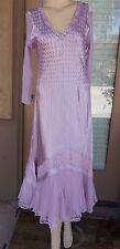Komarov Embellished Mixed Media Dress  (Size XL)