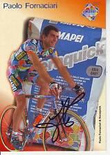 CYCLISME carte cycliste PAOLO FORNACIARI équipe MAPEI signée