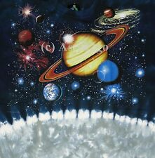 LUNAR HORIZONS--tie dyed double sided Astronomy/space T shirt NEW!  Size XXL