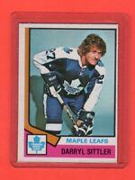 1974-75 O-Pee-Chee OPC  # 40 Darryl Sittler nrmnt