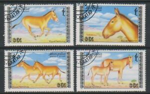 Mongolia - 1988, Asian Wild Ass set - F/U - SG 1967/70 (b)