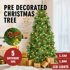 Christmas Tree Pre Lit LED Decorated Mixed Xmas Trees Home Decoration Lights