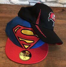 x2 Caps Superman New Era 59FIFTY NFL Tampa Bay Buccaneers 39THIRTY Baseball Hat
