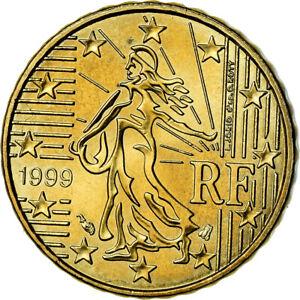 [#772942] France, 10 Euro Cent, 1999, SUP, Laiton, Gadoury:4., KM:1285
