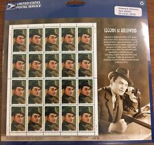Scott 3446 Legends of Hollywood-Edward G Robinson page of 20 -33¢ postage stamps