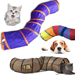 Folding S Road Cat Toy Collapsible Tunnel for Rabbits, Kittens, and Dogs 3 COLOR
