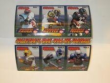 Collector's Edge 1994 NFL Football BOSS Squad Leaders Sheet Cards # 1-6