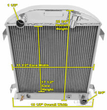 3 Row Queen Champion Radiator Chevy/Mopar Config fits 1932 Ford Chopped