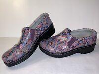 Klogs Pink Floral Print Slip Resistant Slip On Shoes Nursing Women's Size 10M