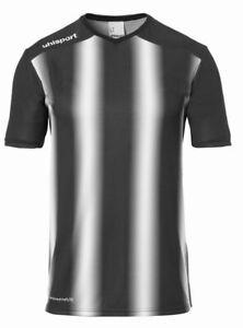 Uhlsport Sports Football Training Kids Striped Short Sleeve SS Jersey Shirt Top