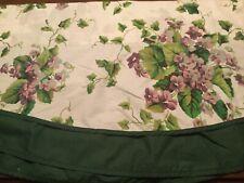 WAVERLY / Garden Room Sweet Violets Purple Floral/Solid Green Under laye Valance