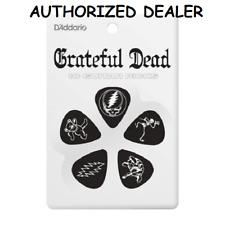 10 Grateful Dead Medium Celluloid Guitar Picks Black D'Addario