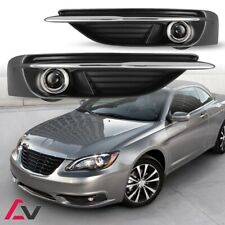 11-14 For Chrysler 200 Clear Lens Pair OE Fog Light Lamp+Wiring+Switch Kit DOT