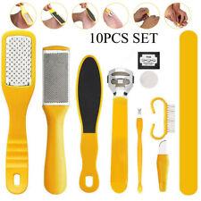 10Pc/Set Pedicure Kit Rasp Foot File Callus Remover Scraper Nail Feet Care Tools