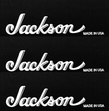 Jackson Guitar Headstock Made In USA OEM, Gloss WHITE Decal Sticker LOT X1