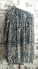 Topshop One Shoulder Animal Print Pleated blouse/top size 8 UK Summer?Holiday?