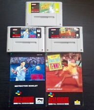 3 SNES GAMES, AMAZING TENNIS, SUPER TENNIS, INTERNATIONAL TENNIS TOUR, NINTENDO