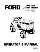 NEW HOLLAND Ford SE4695 LGT 18H Lawn & Garden Tractor OPERATORS MANUAL
