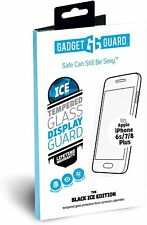 Gadget Guard iPhone 8+ 7+ 6s+ 6+ Plus Tempered Glass Black Ice Screen Protector