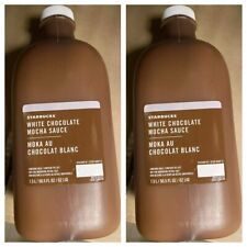 2 PACK- Starbucks White Chocolate Mocha Sauce Coffee Flavoring Syrup *BBD 5/2020