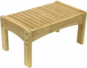 Sorbus Small Bamboo Step Stool [New-Improved Design] Great Foot Rest Stool &