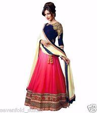 Shoulder Pink Blue Best Selling  Women's Lehenga Choli Sevenfold