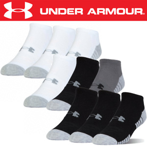 UNDER ARMOUR HeatGear® NO SHOW CUSHIONED SPORT ANKLE SOCKS / 3 PAIR PACK