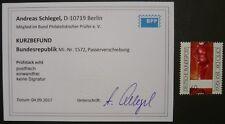 Bund MiNr. 1572 postfrisch MNH mit Passerverschiebung Fotobefund Luxusstück!!!!