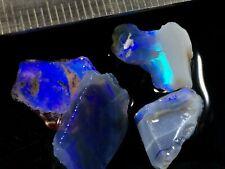 Lightning Ridge Purple/Blues Crystal Opal Rough/Offcuts 12Cts (2.4gms)