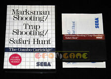 MARKSMAN, TRAP SHOOTING, SAFARI HUNT Master System Vers Europea PAL ••• COMPLETO