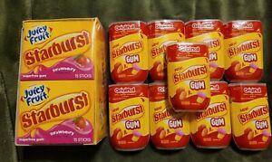 STARBURST Gum, 15-Piece Bottle (lot of 9)&  (lot of10) 15-Piece packs. Sealed