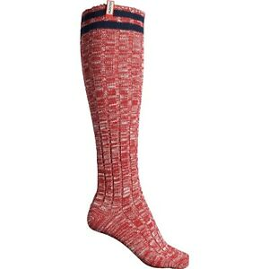Hunter Original Mouline Collage Military Red Knit Tall Socks - Size S/M NWT