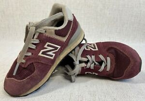 New Balance 574 Classics Toddler 8 Maroon Gray Lace Up Athletic Shoes Sneakers