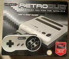 Retro-Bit Retro Duo Twin Video Game System, Silver/Black OPEN BOX / TESTED