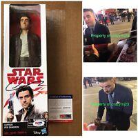 "Oscar Isaac Signed Poe Dameron Figure 12"" Star Wars Autograph Hasbro PSA DNA COA"