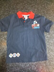 Boy's Thomas & Friends Blue Polo top, aged 3-4 years. Thomas the Tank Engine