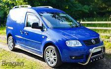 Para adaptarse a 2004 a 2010 Volkswagen Caddy Tubos de Acero Inoxidable Barras Laterales Pasos Falda