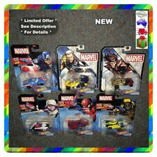 6x Hot Wheels Cable Captain America Marvel Wolverine Spider Man Gwen 1 64scale