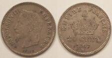 20 Centimes Napoléon III, 1867 BB Strasbourg, TTB+ !!