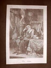 Il Poeta Pietro Aretino Incisione del 1881 Dinastia di Savoia Oscar Pio