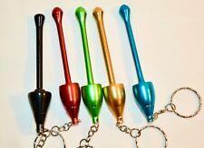 24 Package Mini Mushroom Shape Key Chain Metal Hand Pipe Tobacco Pipe