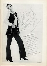 1969 Lord and Taylor  Fashion Lace Body Shirt Wool Jersey Vest & Jeans PRINT AD
