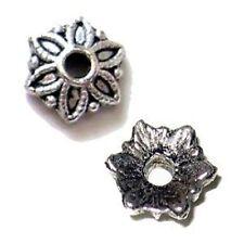 30 pieces Tibetan Silver Alloy Bead Caps - 8mm - A0436