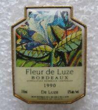 Pin's Alcool FLEUR DE LUZE Vinde Bordeaux 1990 de Luze #1975
