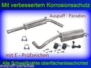 Abgasanlage Auspuff Endtopf für VW Polo IV 1.9 SDi & 1.9 TDi  Typ 9N + Anbaukit