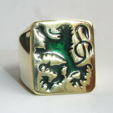 German Green Lion Coat of arms Men's Biker Ring