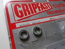*NOS 1970s GRIPFAST 10mm rear track/pista serrated washers - (One pair)*