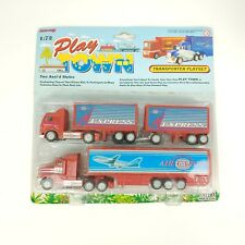 New Ray Toy 1/72 PlayTown Transporter Playset Semi Truck Trailer 18 Wheeler 1996