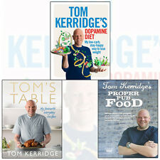 Tom Kerridge's Dopamine Diet 3 Books Collection Set (Proper Pub Food) Brand New